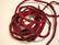 Silkkinauha käsinvärjätty tummanpunainen n. 3 mm / pituus n. 1 m