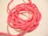 Silkkinauha käsinvärjätty pinkki n. 3 mm / pituus n. 1 m