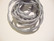 Silkkinauha käsinvärjätty vaaleanharmaa/hopea n. 3 mm / pituus n. 1 m