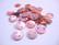 Simpukkahelmi/-linkki tumma persikka pyöreä litteä 10 mm, 2 reikäinen (10/pss)