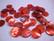 Simpukkahelmi/-linkki punainen pyöreä litteä 10 mm, 2 reikäinen (10/pss)