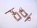 Salpalukko suorakaide kuparinvärinen 20 x 11 mm (3 kpl/pss)