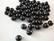 Akaatti musta pyöreä 6 mm (30 kpl/pss)