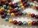 Osterinkuorihelmi lila / turkoosi / kulta / tumma punainen mix 8 mm (n. 48 kpl / nauha)