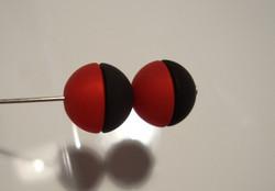 Polarishelmi punainen matta puolipallo 12 mm (2/pss)