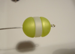 Polarishelmi  limenvihreä matta puolipallo 12 mm (2/pss)