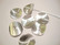 Metallihelmi/helmihattu hopeoitu hohtava Aaltoileva viipale 12 mm (4/pss)