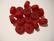 Polarishelmi rubiinin punainen matta rondelli 12 mm