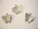 Vintaj Fluttering Butterfly -perhosriipus hopeanvärinen 16 x 15 mm