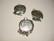 Riipus / kuvakehys hopeoitu pyöreä 23 mm, kuvan koko n. 20 mm