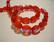 Tsekkiläinen fasettihiottu lasihelmi punainen AB 11 x 8 mm ovaali (10 kpl/pss)