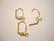 Korvakorukoukku klipsillä suljettava kullattu 16 x 10 mm (10 kpl/pss)