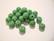 Opaakki lasihelmi vihreä pyöreä 6 mm (30 kpl/pss)