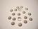 Helmihattu hopeoitu uritettu 6 mm (20 kpl/pss)