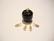 Korupiikki / Riipuspiikki kullattu pituus 7 mm, lenkki päässä (10 kpl/pss)