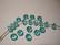 Swarovski kristallihelmi turkoosi rondelli 4 x 6 mm (6 kpl/pss)