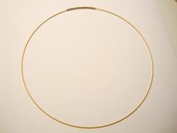 Valmis vaijeri kaulakoruun 45 cm x 1 mm kulta