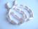 Helmiäislasihelmi vaalean punainen pisara 17 x 8 mm (10/pss)