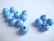 Rayher Puuhelmi vaaleansininen pyöreä 6 mm (115 kpl/pss)
