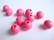 Rayher Puuhelmi pinkki pyöreä 8 mm (82 kpl/pss)