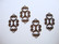 Vintaj linkki / riipus Etruskilainen (Etruscan Swirl) 25 x 14 mm
