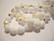 Tsekkiläinen fasettihiottu lasihelmi pyöreä opaakki valkoinen AB 8 mm (20/pss)