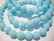 Tsekkiläinen fasettihiottu lasihelmi pyöreä opaakki vaalea turkoosi 8 mm (20/pss)