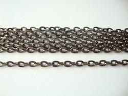 Ketju ovaali lenkki musta 4 x 3 mm (1 m)