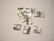 Metallihelmi/helmihattu hopeoitu hohtava Aaltoileva neliö viipale 10 mm (6/pss)
