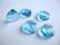 Swarovski kristalli brioletti vaalean sininen / Aqua 15 x 14 mm