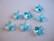 Swarovski kristallihelmi turkoosi perhonen 10 mm (2 kpl/pss)