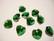 Swarovski kristalli sydänriipus tumma vihreä (Smaragdi) 14 mm