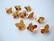 Swarovski kristallihelmi kuparinvärinen Copper perhonen 10 mm (2 kpl/pss)