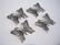 Korulinkki / riipus perhonen musta (gunmetal) 36 x 26 mm (2 kpl/pss)