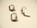 Korvakorukoukku klipsillä suljettava musta (gun metal) 16 x 10 mm (10 kpl/pss)