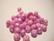 Fasettihiottu lasihelmi pastelli pinkki/punavioletti AB 6 x 8 mm (20 kpl/pss)