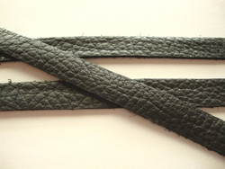 TierraCast Nahkanauha musta 12,5 mm/pituus 25 cm
