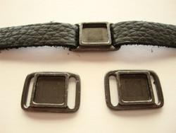 TierraCast Korulinkki / kuvakehys musta 17,6 X 24,3 mm / kuvakoko 11,6 x 11,6 mm