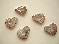 TierraCast Niitinkoriste Sydän hopeoitu 10 mm, sopii 4 mm niitille (2 kpl/pss)