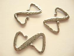TierraCast Z-lukko hopeoitu 28 x 18,6 mm