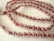 Särölasihelmi kirkas/punainen pyöreä 8 mm (20 kpl/pss)