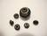TierraCast Metallihelmi/bead aligner isoreikäisille helmille musta 7 mm (4 kpl/pss)