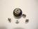 TierraCast Metallihelmi/bead aligner isoreikäisille helmille hopeoitu 7 mm (4 kpl/pss)