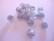 Polarishelmi kimalle hopea 10 mm (2 kpl/pss)