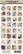 Kuva-arkki (collage sheet) Scientific Seedpods, yksittäisten kuvien koko 22 mm (32 kuvaa/arkki)
