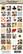 Kuva-arkki (collage sheet) Queen of Hearts, yksittäisten kuvien koko 22 mm (32 kuvaa/arkki)