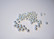 Metallihelmi/välihelmi uritettu hopeoitu 3 x 2 mm (100 kpl/pss)
