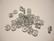 Polarishelmi kimalle hopea rondelli 8 mm (4 kpl/pss)