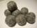 Huovutettu helmi harmaa n. 23 mm (5 kpl/pss)