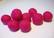 Huovutettu helmi tumma pinkki n. 23 mm (5 kpl/pss)